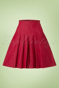 50s Vivian Wide Leg Shorts in Red