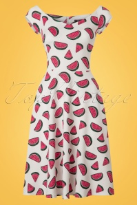 Vintage Chic Marcella High Summer Watermelon Dress 102 59 22071 20170510 0002w