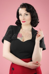 50s Elsy Top in Black
