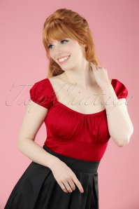 50s Bonnie Top in Red