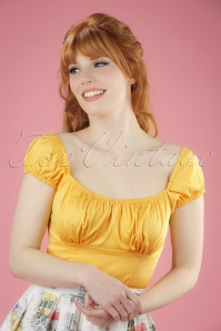 50s Bonnie Top in Yellow