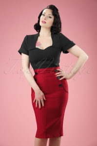 TopVintage exclusive ~ 50s Vivian Pencil Skirt in Red