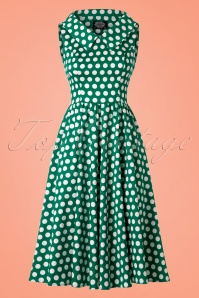 Hearts & Roses Green White Polkadot Swing Dress 102 49 21854 20170510 0023w