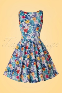 Lady V TopVintage Exclusive Tropical Leaves Tea Dress 102 39 21791 20170510 0017w