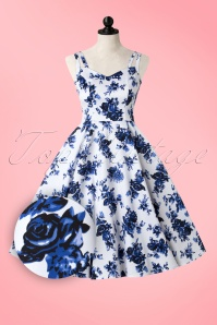 Hearts and Roses White Blue Floral Dress 102 59 17141 20160415 0003WAP