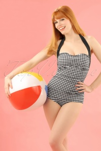 Bunny 50s Elsie Classic Black and white Gingham Swimsuit 15366 20150521 2W
