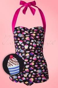Girlhowdy Black Cupcake Bathing Suit 161 14 16939 20151217 0005W1