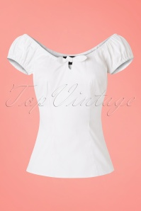 Collectif Lorena Plain Top in White 110 50 21475 20170515 0003w