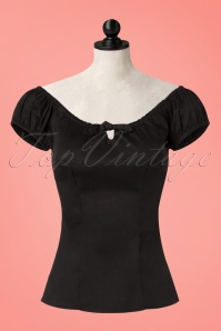 Collectif Lorena Plain Top in Black 110 10 21474 20170515 0001wd