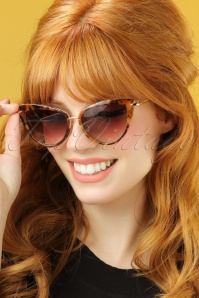 Collectif Turtoiseshell and Gold Dita Cats Eye Sunglasses 260 79 20352 model01W