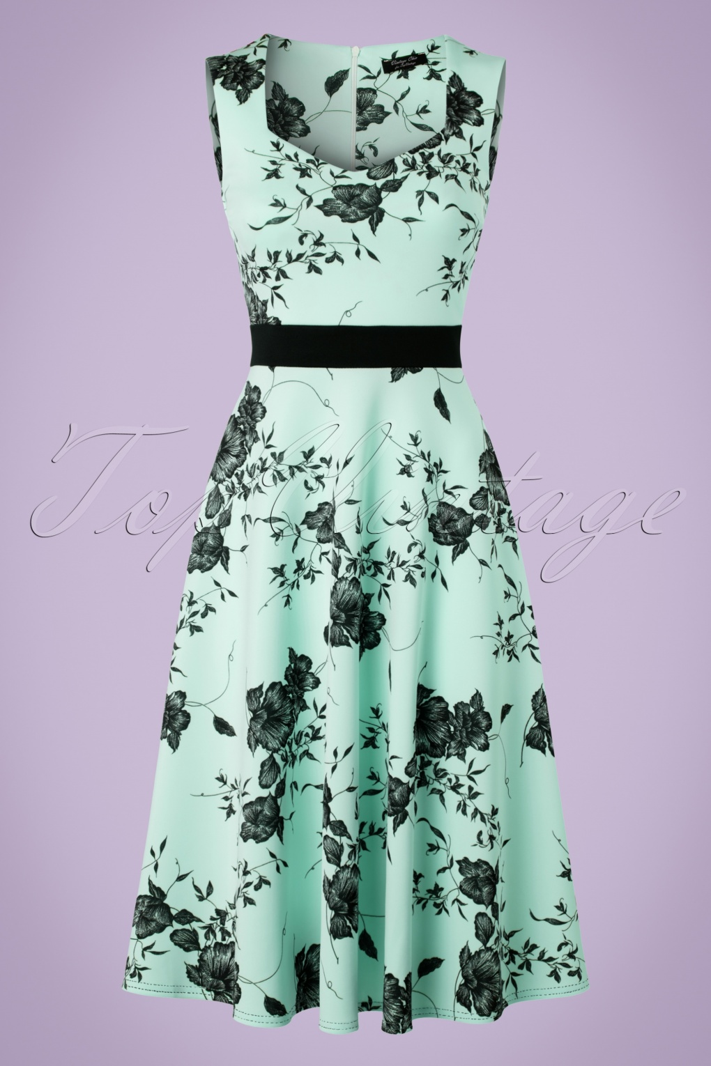 Pin Up Dresses | Pin Up Clothing TopVintage Exclusive  50s Veronique Floral Swing Dress in Mint £43.92 AT vintagedancer.com