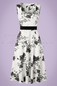 Vintage Chic Veronica White Dress Flower Print 102 59 19388 20160629 0011W