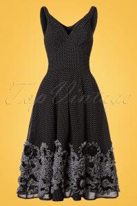 Miss Candyfloss Black and White Polkadot Dress 102 14 20602 20170425 0005W