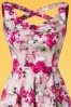 Hearts and Roses  50s Samantha Pink Flowers Swing Dress 102 29 19098 20160210 0008C