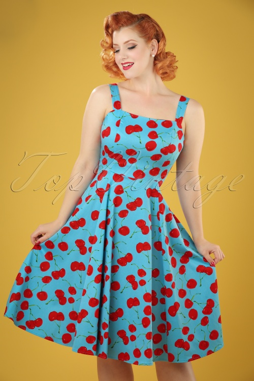 Hearts and Roses Blue Cherry Swing Dress 102 39 21738 20170425 05W