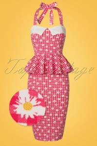 Vintage Chic Marcella Halterneck Red Daisy Dress 100 27 21004 20170425 0001W1