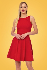 Vintage Chic Super Crepe Red dress 102 20 20990 model02