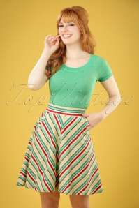 60s Sofia Rhyme Skirt in Cream