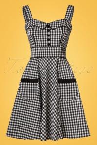 Bunny Bridget Checked Black and White Mini Dress 102 14 21078 20170420 0003W