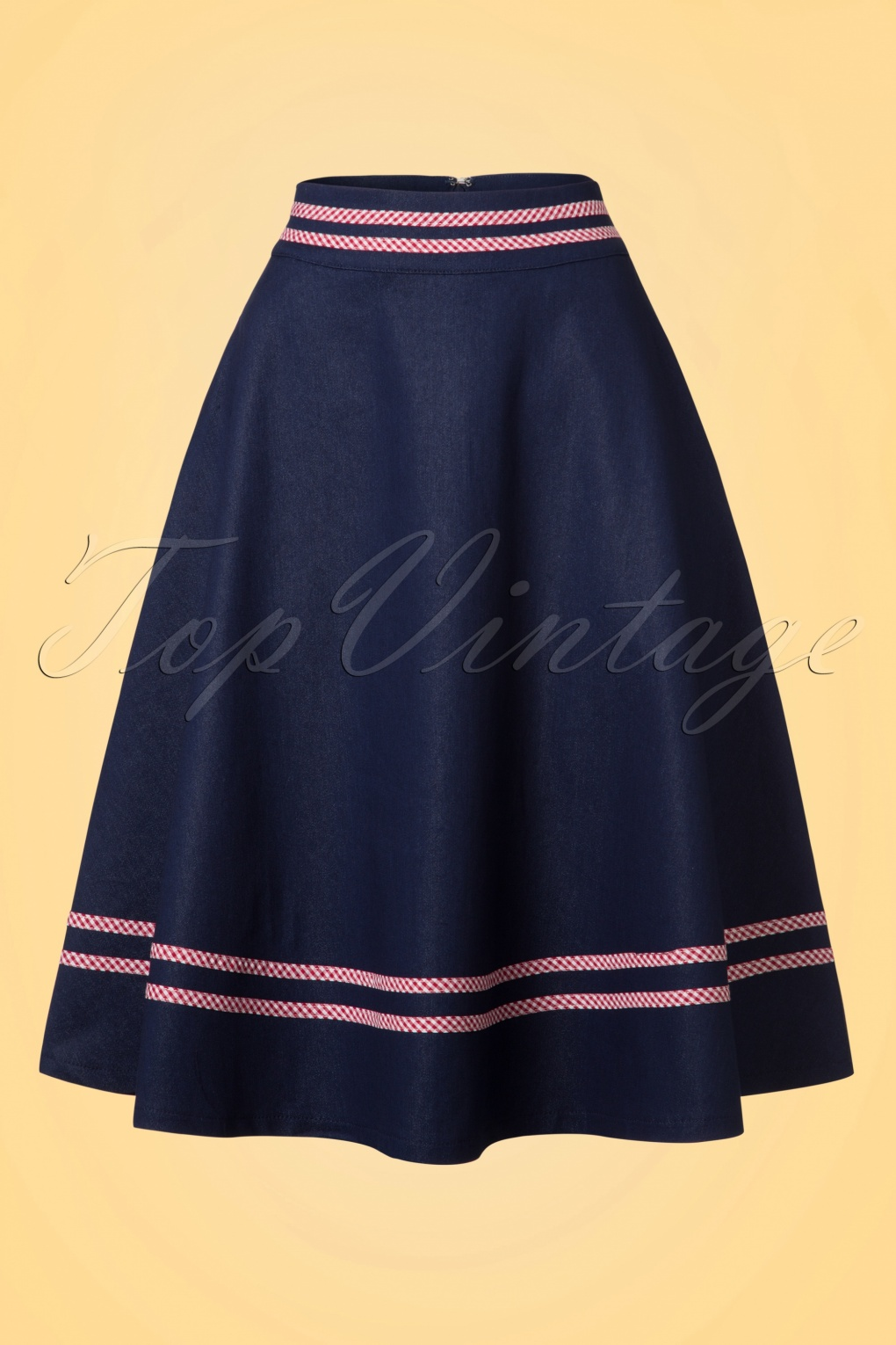 1940s Teenage Fashion: Girls 50s Jadore Swing Skirt in Navy £43.86 AT vintagedancer.com