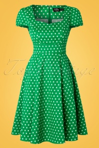 Dolly and Dotty Claudia Green Polkadot Dress 102 49 18777 20160330 0006W