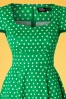 Dolly and Dotty Claudia Green Polkadot Dress 102 49 18777 20160330 0006V