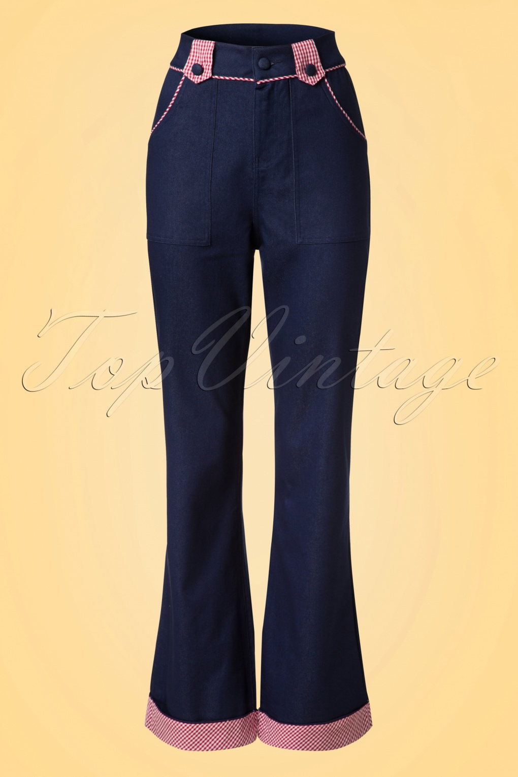 Retro Pants & Jeans 50s Jadore Trousers in Navy £43.94 AT vintagedancer.com