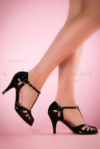 Secret Love Sandals Années 40 en Noir