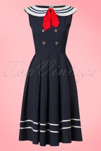 Dancing Days by Banned Blue Sailor Swing Dress 102 31 20918 20170517 0014W