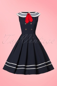 Dancing Days by Banned Blue Sailor Swing Dress 102 31 20918 20170517 0010W
