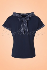 Dancing Days by Banned Blue Polkadot Top 113 31 20958 20170517 0011w