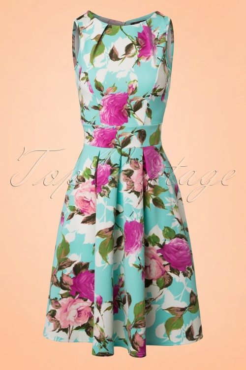Vintage Chic Blue Floral Dress 102 39 21987 20170519 0001W