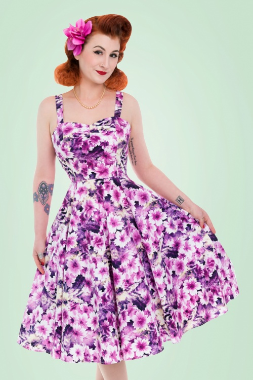 Hearts and Roses Purple Floral Swing Dress 102 69 21740 20170519 01