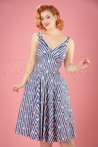 Miss Candyfloss Bake Print Striped Swing Dress 102 39 20610 20170414 01W