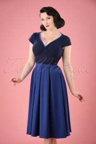 Miss Candyfloss TopVintage Exclusive Kobalt Blue Dress 102 30 20606 20170424 01W