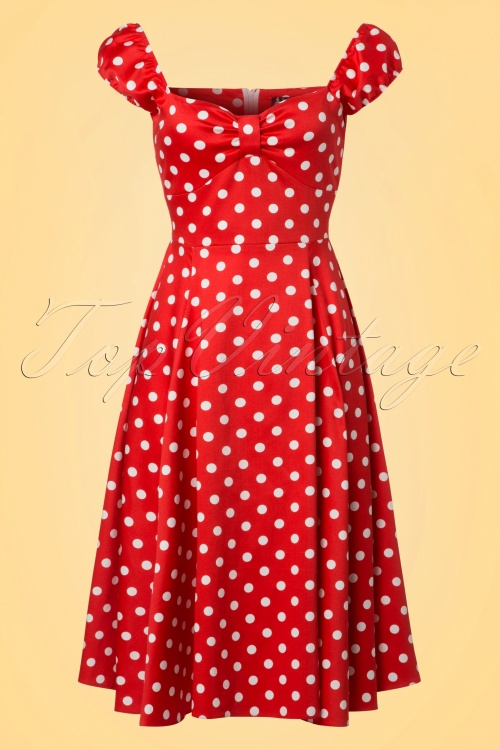 Lady V Red Polkadot Swing Dress 102 27 21804 20170519 0011W