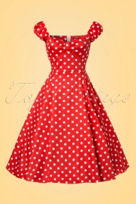 Lady V Red Polkadot Swing Dress 102 27 21804 20170519 0006W