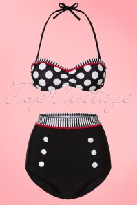 Bellissima Black White and Red Polkadot Bikini 22121 & 22122 20170519 0003w