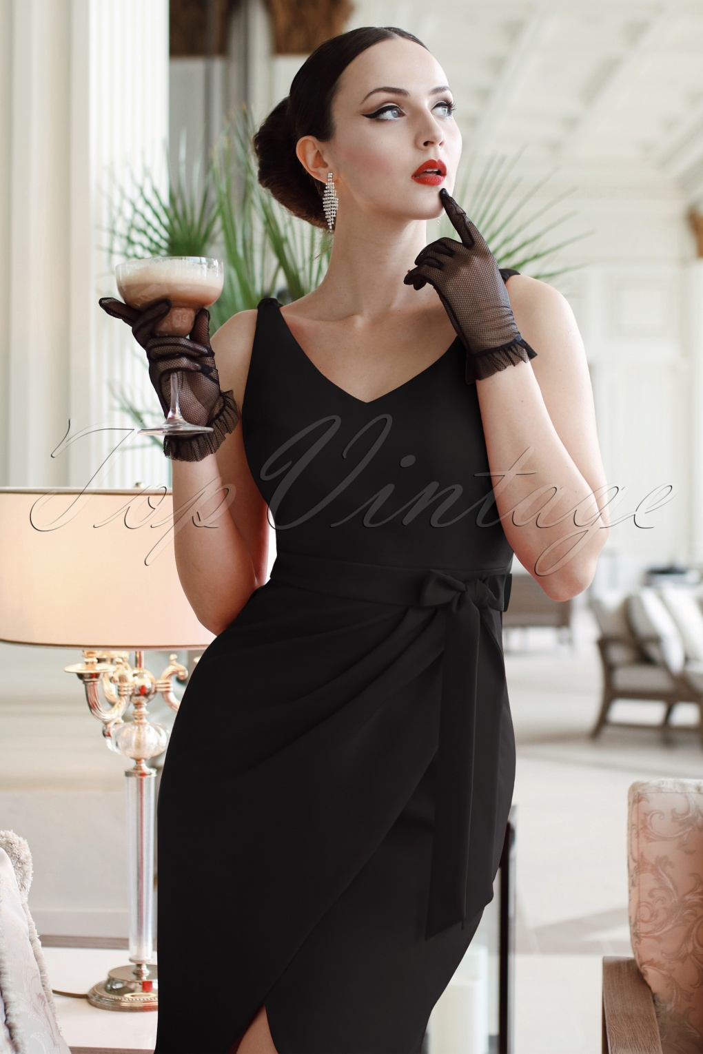 Vintage Inspired Cocktail Dresses, Party Dresses The Eve Dress in Black £114.10 AT vintagedancer.com