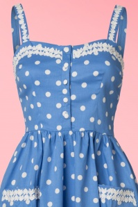 Lindy Bop Blue Polkadot Corinna Dress 102 39 22150 20170522 0003V