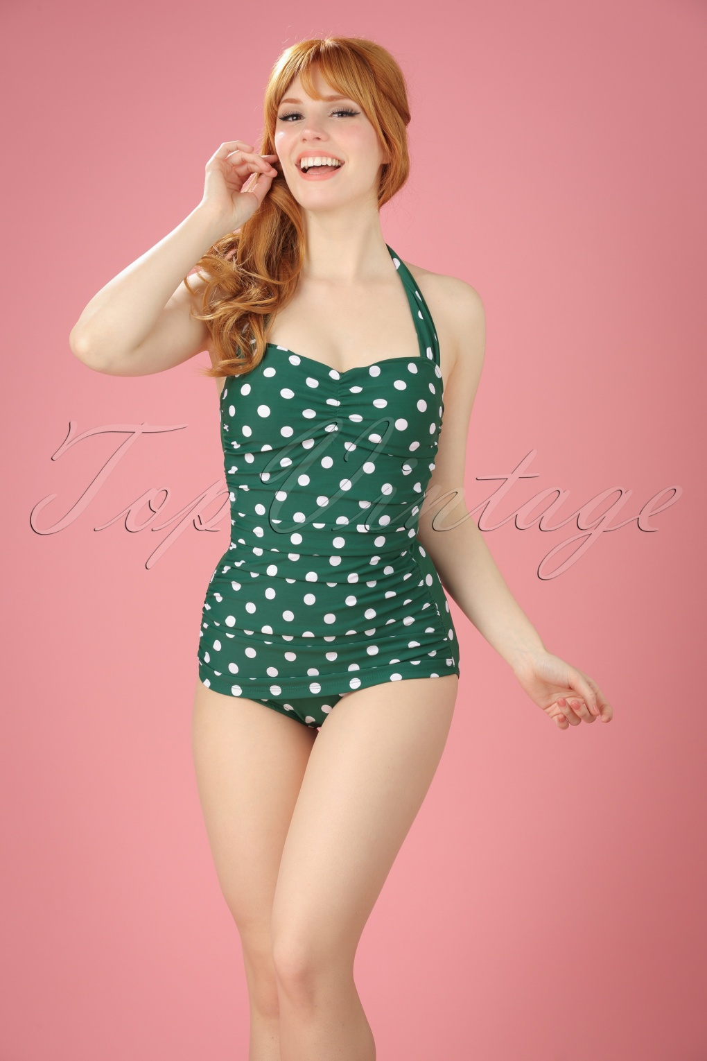 8ae9d7a8c39 Esther Williams Classic Polkadot Swimsuit 161 49 16935 9W ...