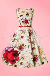Lady Vintage Hepburn Roses Swing Dress 102 59 21192 20170331 0003W1