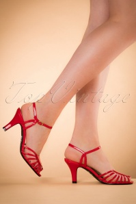Banned Retro 40s Amelia Sandals in Red