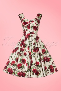 Hearts and Roses White Roses Swing Dress 102 59 19992 20170322 0003W