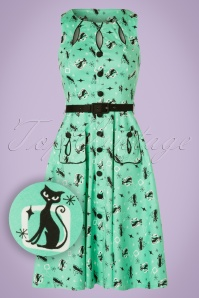 Vixen Kitty Mint Green 50s Swing Dress 102 49 20442 20170328 0006W1