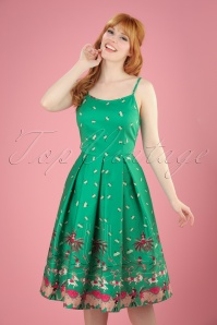 Lindy Bop Green Umbrella Circus Dress 102 49 21752 20170331 1W