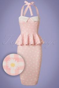 Vintage Chic Marcella Halterneck Pink Daisy Dress 100 29 21003 20170425 0003W1