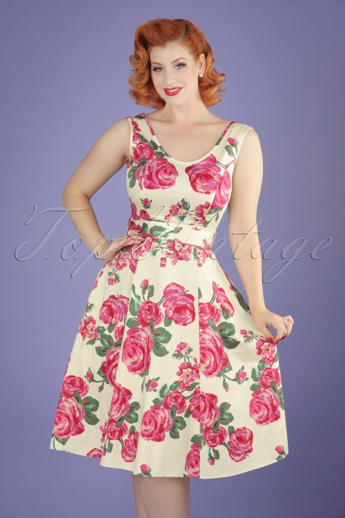 Lady V Charlotte Pink Rose Swing Dress 102 57 16071 20150702 1W