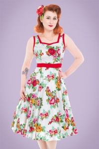 Hearts and Roses White Floral Swingdress 21730 20170523 001