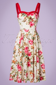 50s Emily Rose Swing Dress in Cream